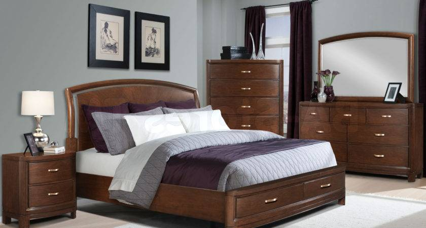 Wall Color Bedroom Brown Furniture Home Combo