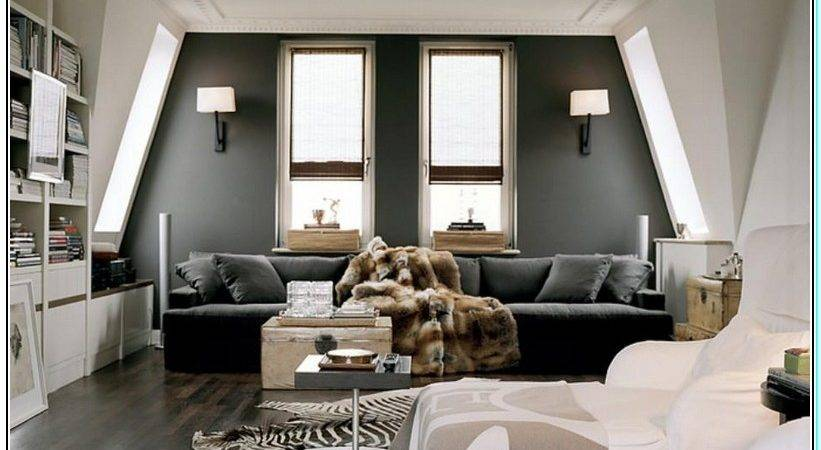 Wall Color Goes Grey Sofa Furniture