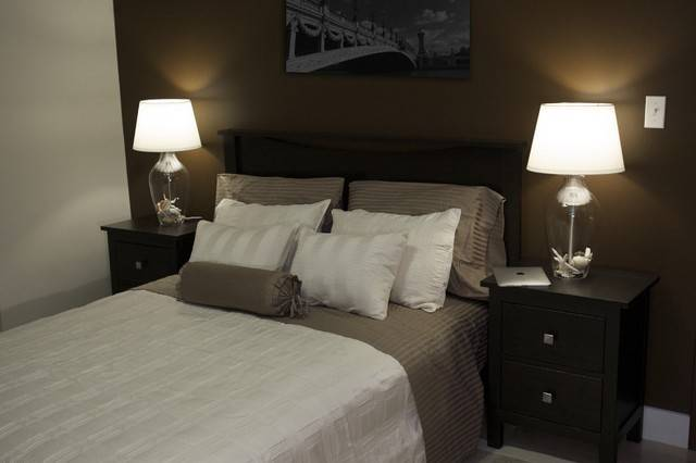 Wall Colors Bedrooms Dark Furniture Brown