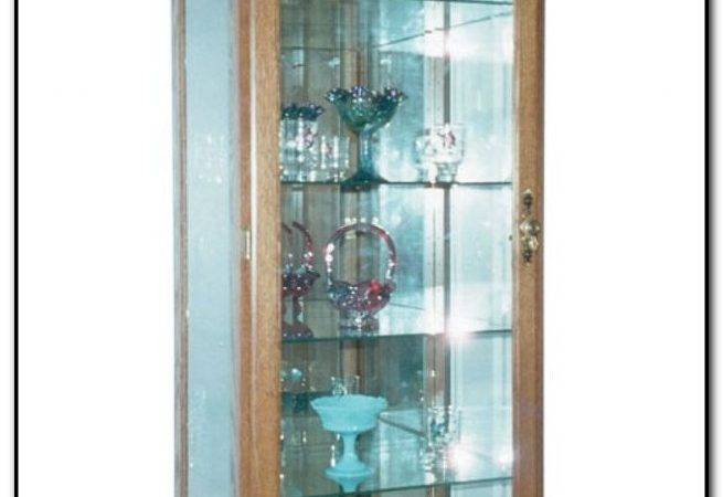 Wall Curio Cabinet Glass Doors Home