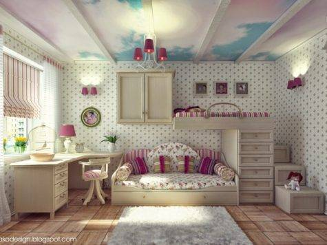 Wall Decal Teenage Girls Bedroom Low Pro Bed