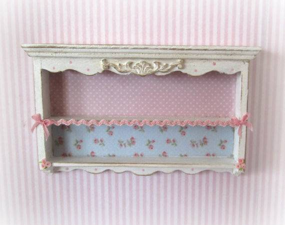 Wall Shelves Shabby Chic Style Scale