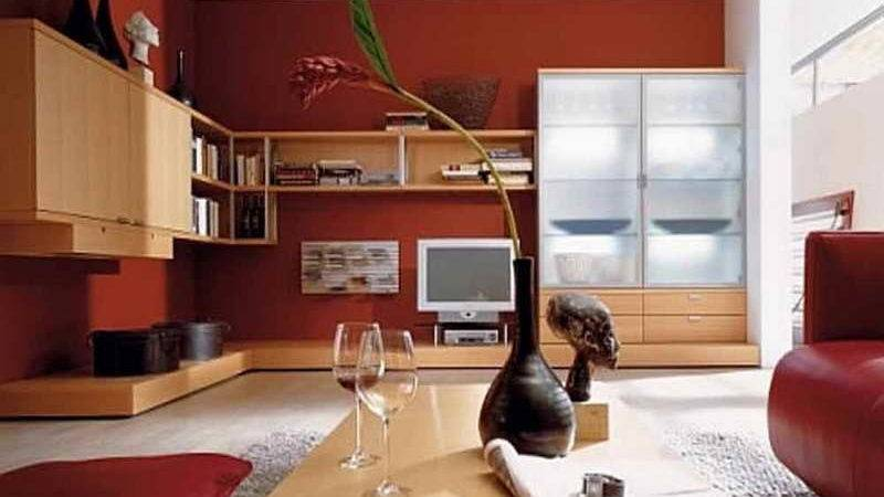 Walls Red Wall Paint Ideas Living Room