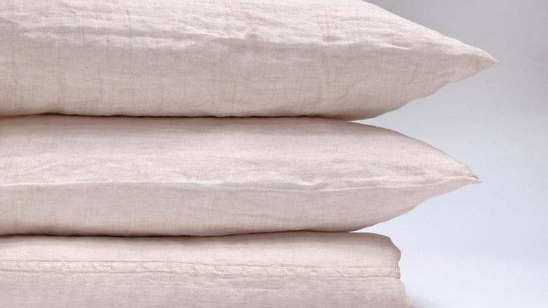 Washed Linen Bedding Camille Area Kaufmann Mercantile