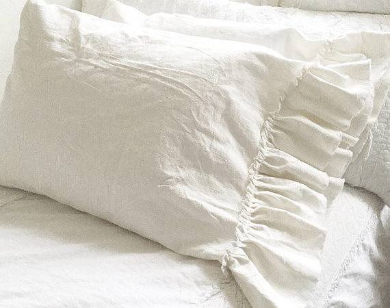 Washed Linen Ruffle Bedding Hallstrom Home