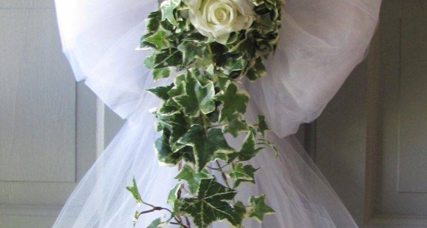 Wedding Decorations Rose Ivy Tulle Bows