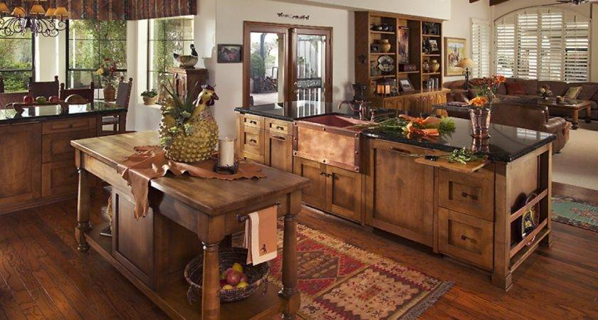 Western Kitchen Ideas Rustic Cabinets