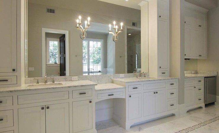 White Bathroom Cabinet Decoration Ideas