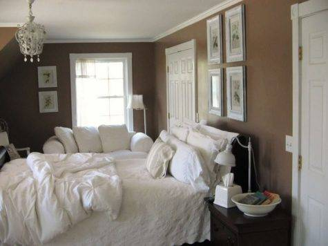 White Bedroom Color Accents Bedding Goes Brown