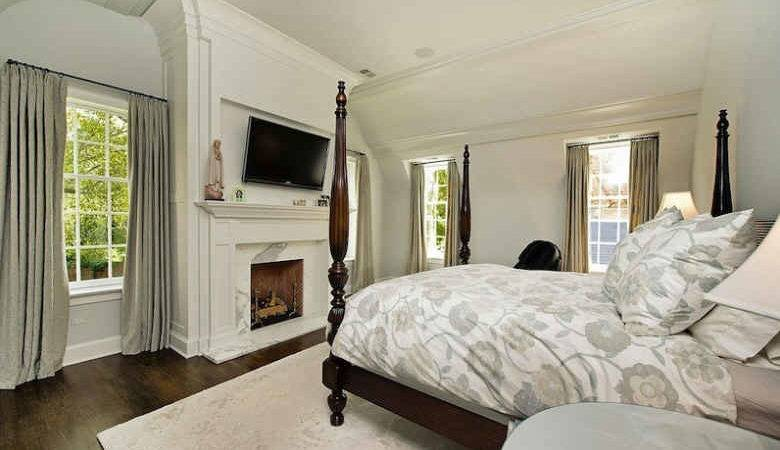 White Bedroom Fireplace Hooked Houses