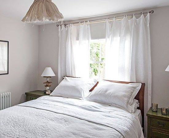 White Bedroom Sheer Curtains Decorating