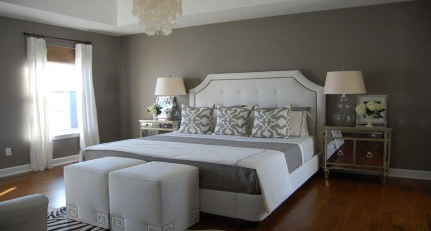 White Bedroom Walls Gray Paint Colors Best