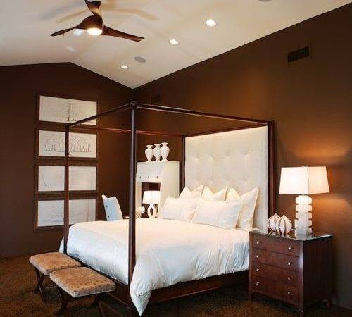 White Brown Bedroom Houzz