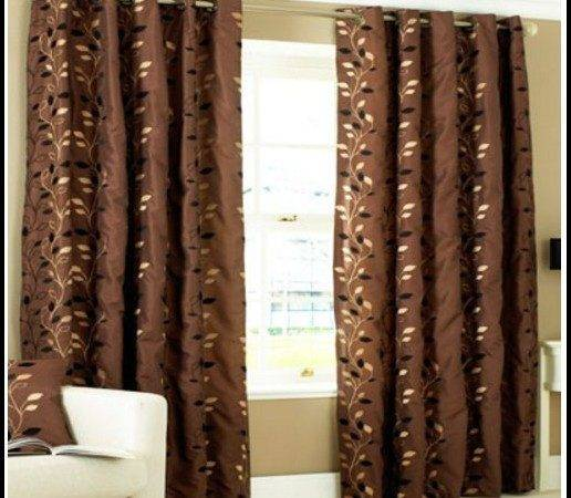 White Chocolate Brown Curtains Home