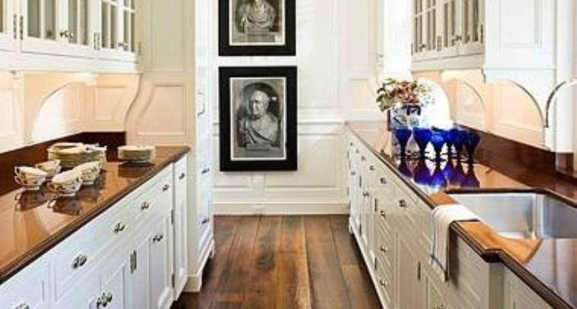 White Country Galley Kitchen French