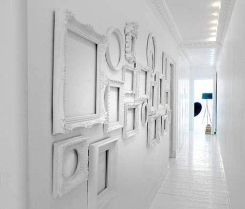 White Decorating Ideas Frames Bright