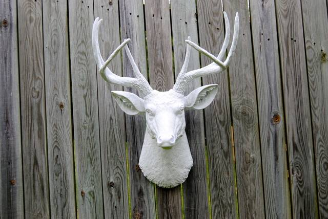 White Faux Deer Head Home Decor Baltimore Near