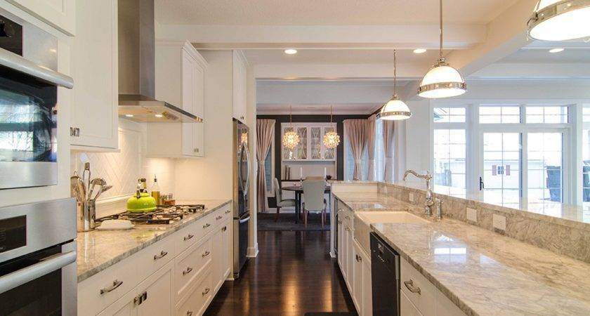 White Galley Kitchen Design Ideas Unique