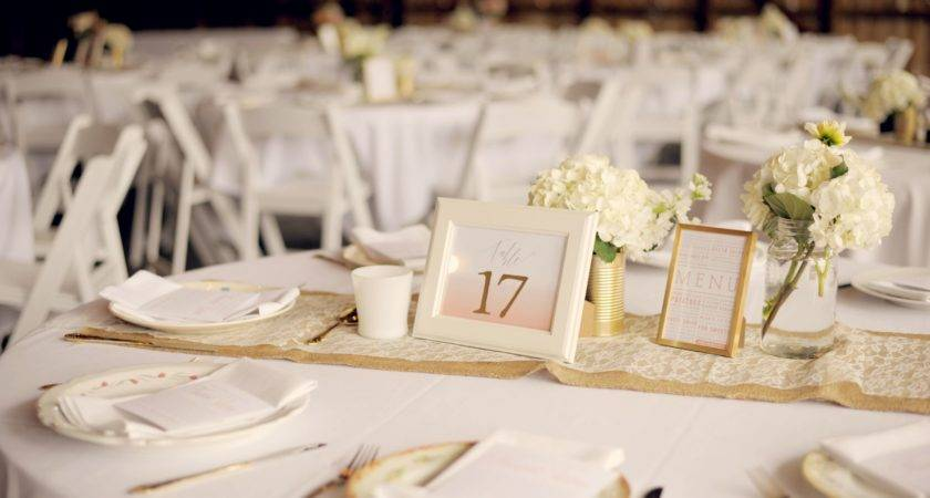 White Gold Table Decorations