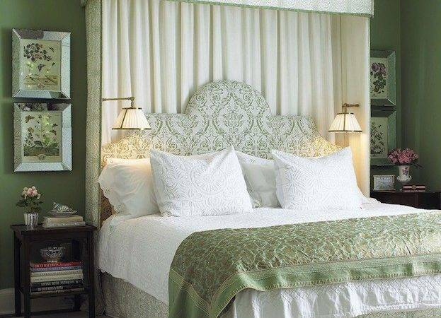 White Green Bedroom Traditional Farrow