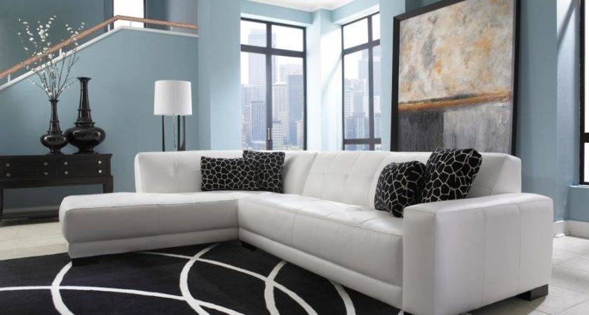 White Leather Chesterfield Sectional Sofa Chaise