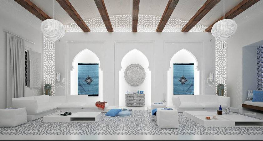 White Moroccan Style Interior Design Ideas