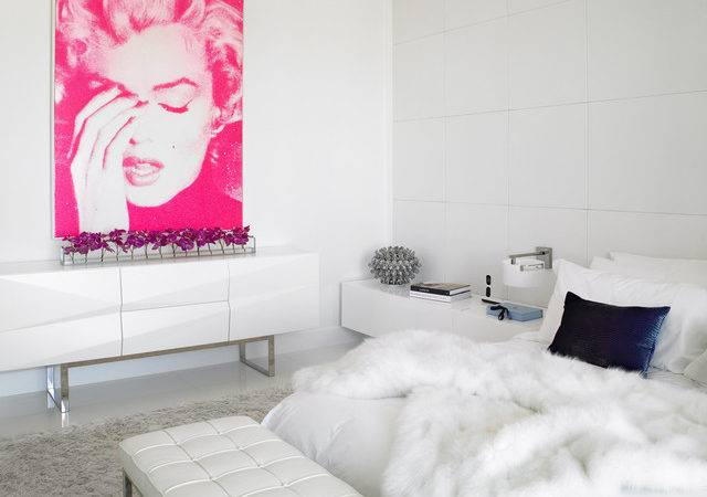 White Pink Bedroom Contemporary Other