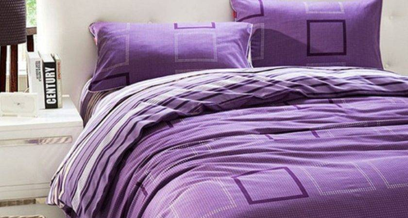 White Purple Bedding Decorate