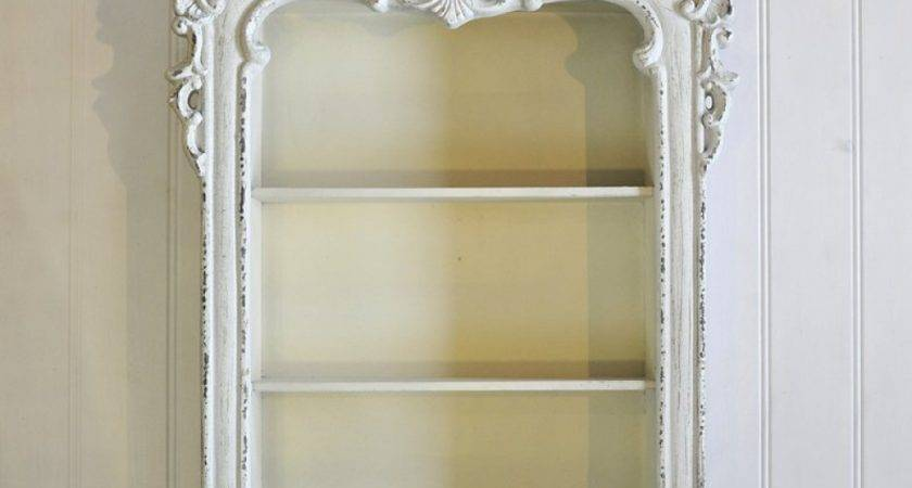 White Roccoco French Wall Cabinet Oscar Boutique