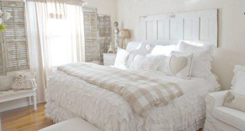 White Shabby Chic Bedroom Ideas Freshouz