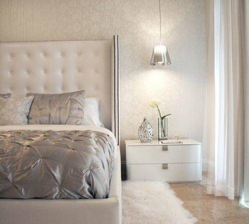 White Silver Bedroom Design Ideas Remodels Photos