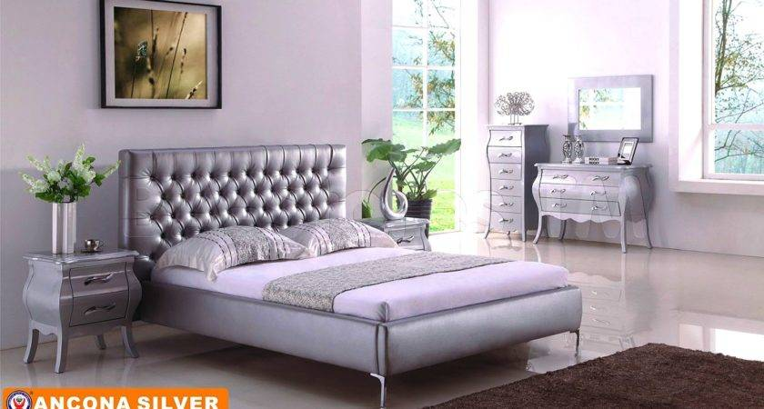 White Silver Bedroom Furniture