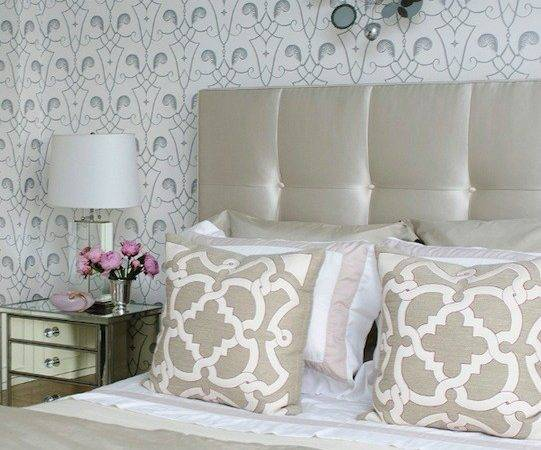 White Silver Contemporary Bedroom Vogue