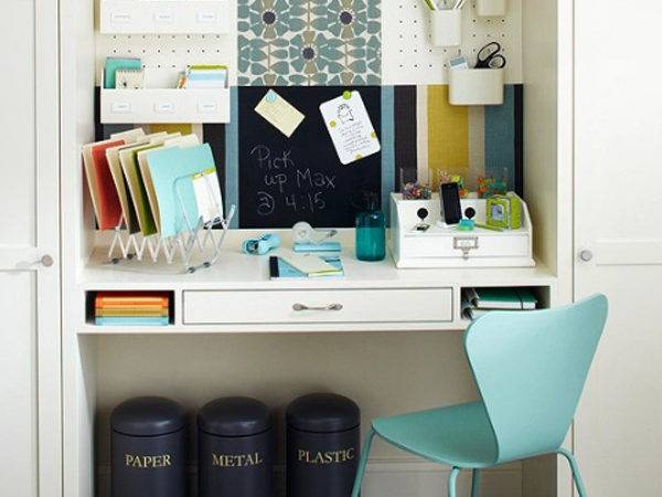 White Small Home Office Room Ideas