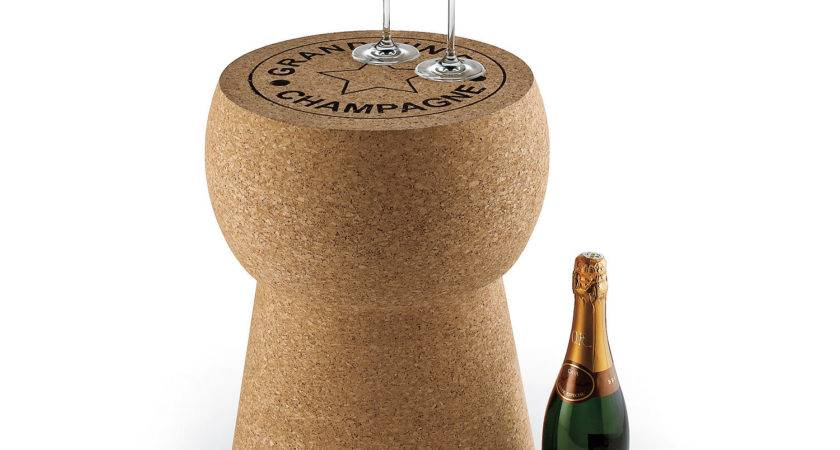Wine Enthusiast Companies Giant Champagne Cork Stool Table