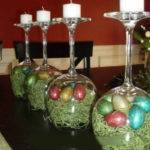 Wine Glass Easter Egg Candle Holder Country Victorian