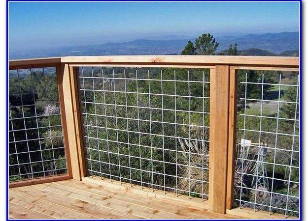 Wire Mesh Deck Railing Diy Decks Home Decorating Ideas