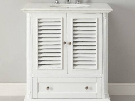 Witching Bathroom Vanities Cottage Style White Wooden