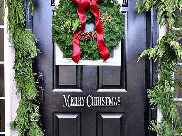 Wonderful Christmas Front Door Decorations Ideas All