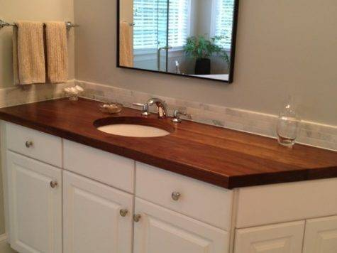 Wood Countertops Charlotte Traditional Vanity