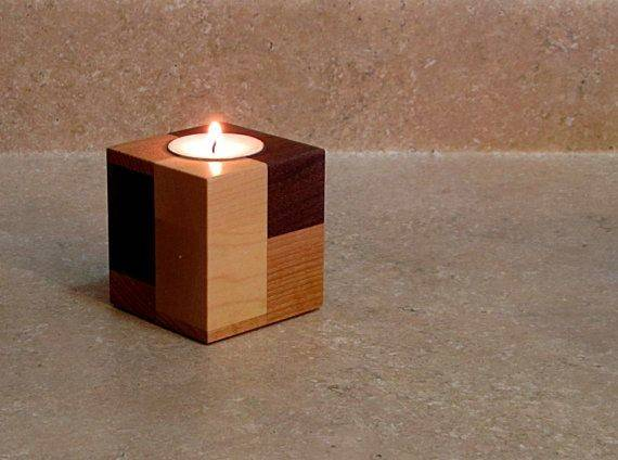 Wooden Candle Holders Holder Centerpiece