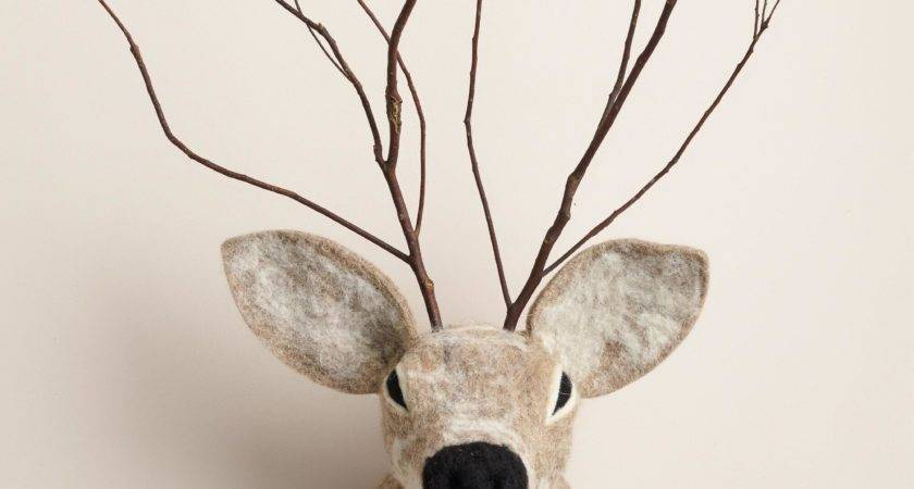 Wool Deer Head Wall Decor World Market