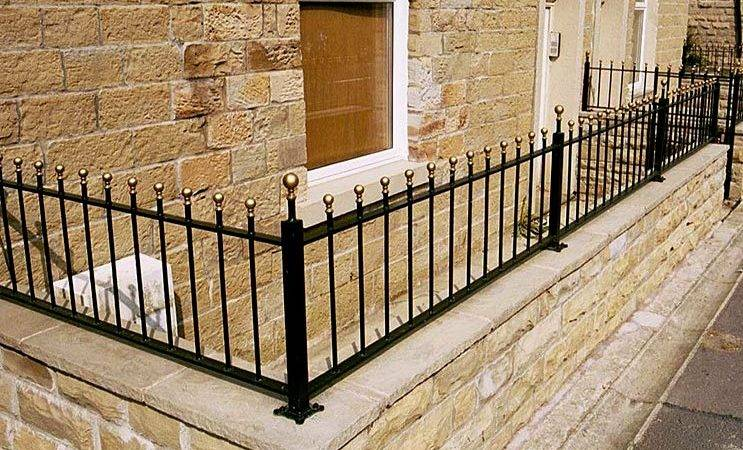 Wrought Iron Wall Top Garden Railings North Valley Forge