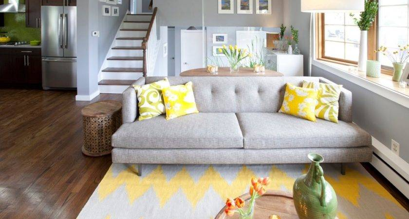 Yellow Area Rug Bedroom Contemporary Ceiling Light