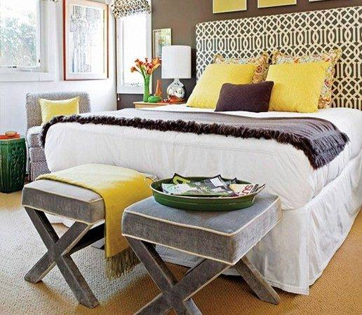 Yellow Bedrooms Gray Bedroom Master Colors