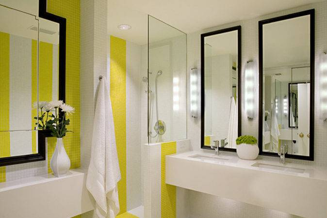 Yellow Black Bathroom Design Ideas