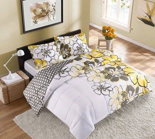 Yellow Black Bedding Sets Bed