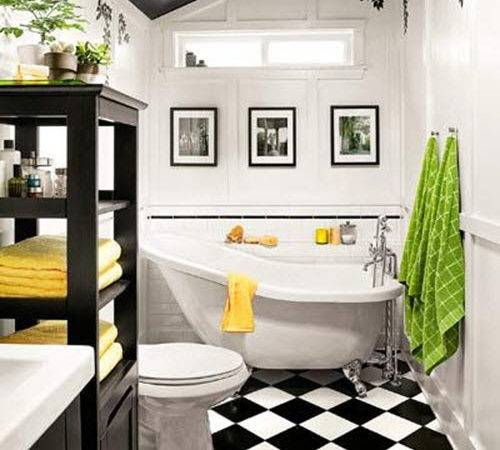Yellow Black White Bathroom Torie Tristan
