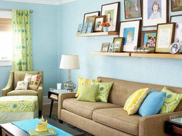 Yellow Blue Living Room Accessories Best
