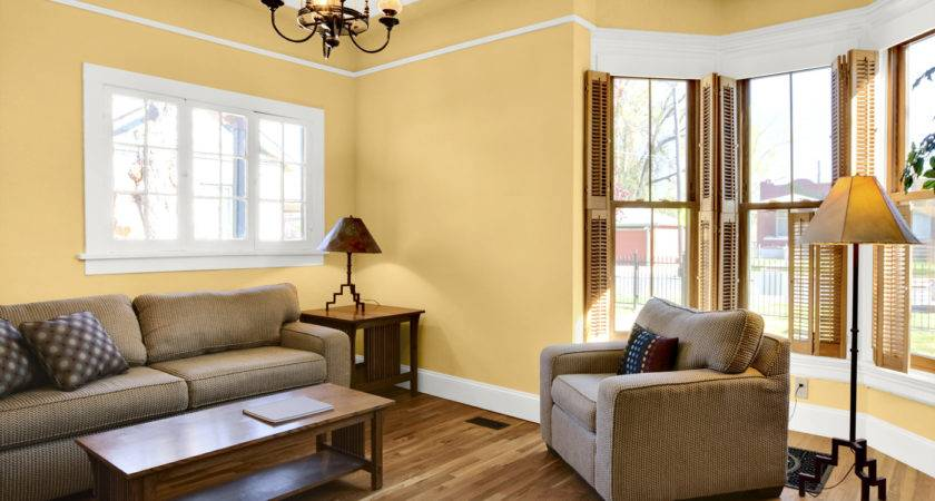 Yellow Gold Paint Color Living Room Including Wall Colors